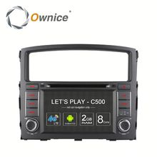 double 2 din Octa core android 6.0 factory selling mitsubishi pajero car dvd player gps navigation ownice mitsubishi in car dvd