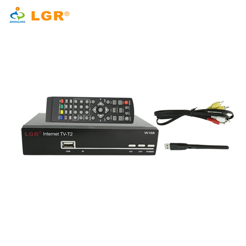 2017 LGR dvb-t2 decoder 168mm size with youtube LDE display USB