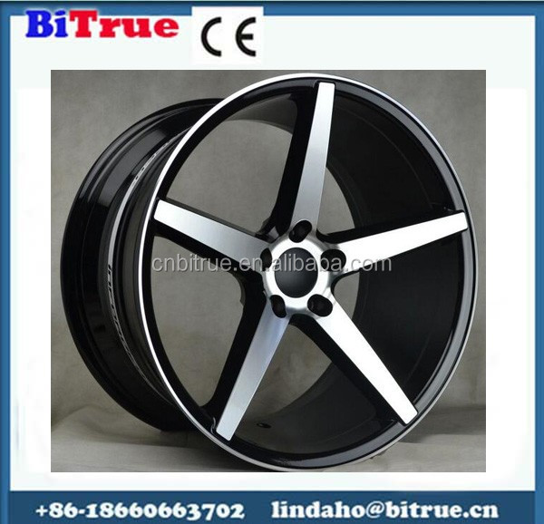 New style aluminum blue car rims in stock