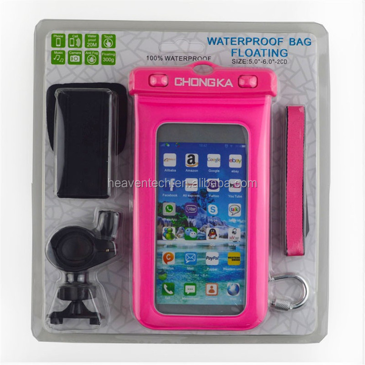 New Most Popular Promotional Mobile Phone Waterproof Bag For All kindy phone