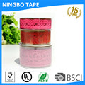 Adhesive shining lace ribbon decoration tape ,for DIY