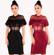 2017 sexy see through lace latest club dress designs pictures for women