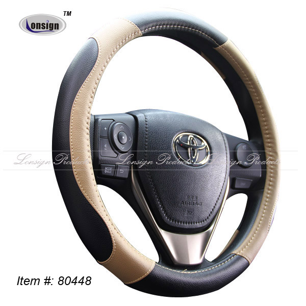 Luxury material heated leather car steering wheel cover