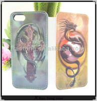 Cheap with 3D image Hot selling wallet case for iphone 5 /5G/ 5S