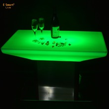Disco Square LED furniture Shinning cocktail bar coffee table/Glowing bar tables led poseur table