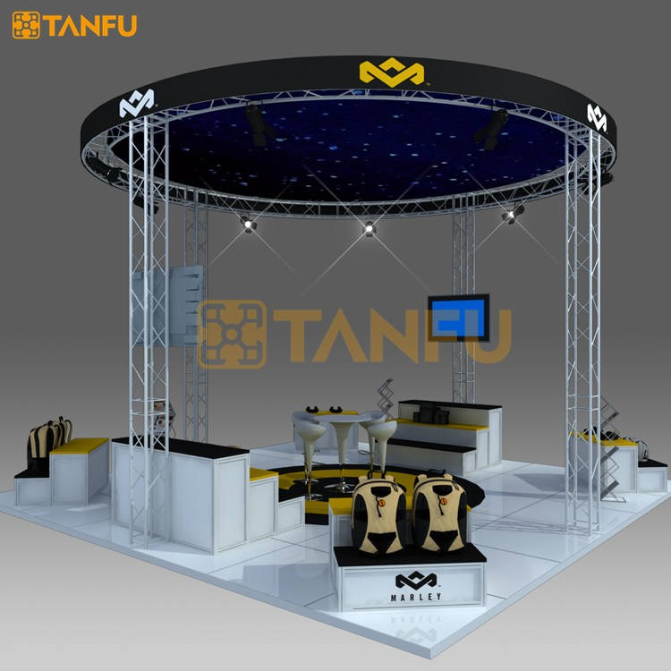 TANFU 20 ft x 20ft or 6 x 6 Aluminum Truss Booth with Circle Shape for Trade Show