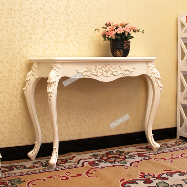 Antique wood Luxury Console Table art deco