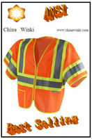 America ANSI Class 3 Best Comfortable Work Vests With 3M Reflective Tape