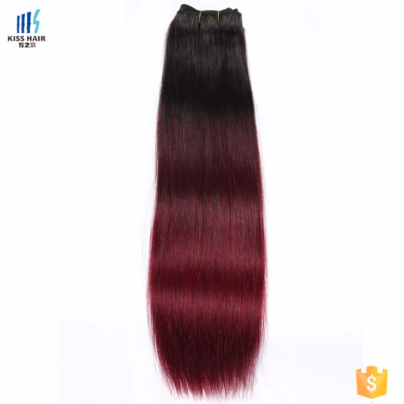Virgin Hair Three Tones Product Red Color Peruvian Hair Extension
