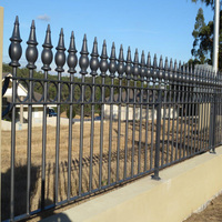 Metal wrought iron welded wall fence