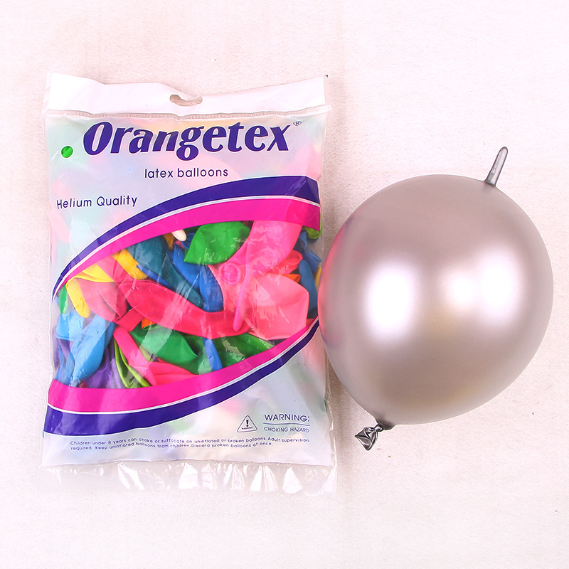 6/10/12inch New design ballon 100% natural latex tail balloons Link o loon balloon for Party Happy Birthday  decorations