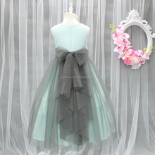 High Classic Girls Wedding Flower Gowns Big Long Bow Victoria Kids New Year Party Long Dresses Appliqued