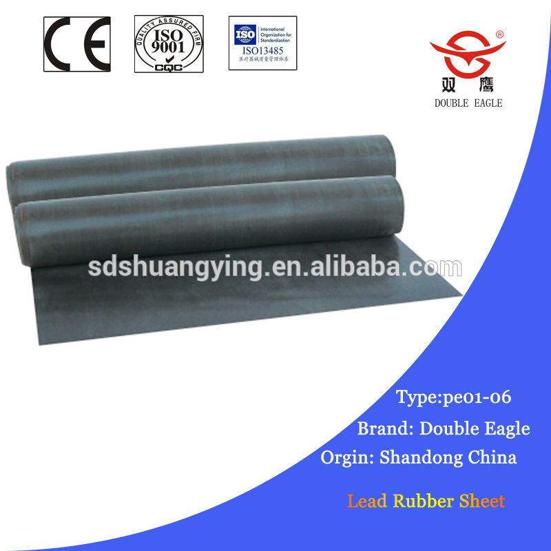 Radiation x ray protection lead rubber sheet