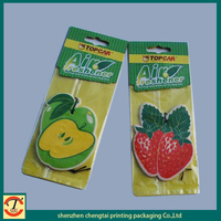 customized cherry shape car air freshener 2015