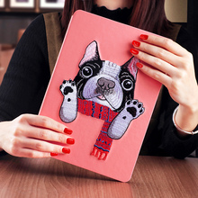 KAKU cartoon design simple pu leather tablet cases and covers for ipad 3 mini 4 pro 9.7