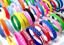 Promotional adjustable silicone wristband