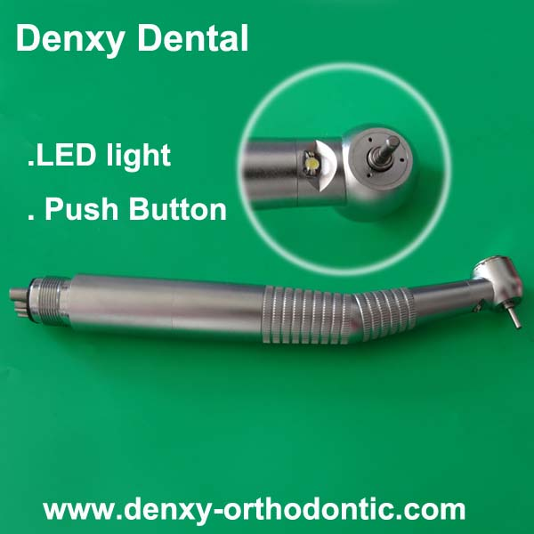 Denxy Dental Electric Dental Handpiece Set with Contra Angle, Straight Handpieces