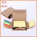 Wholesale Eco-friendly Note Case 100 Sheets Yellow Sticky Note Flags With Ball Pen