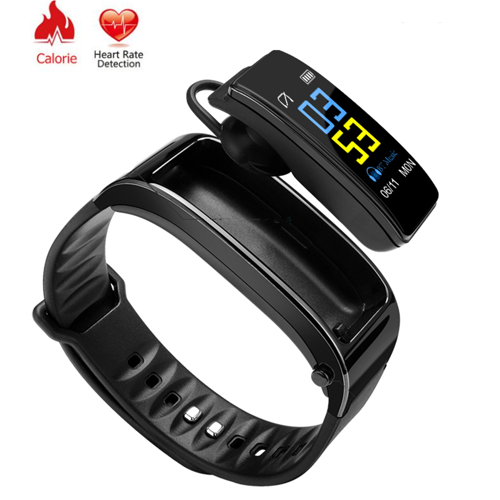 <strong>Y3</strong> Plus Smart Bracelet Heart Rate Monitor Talk Band Fitness Tracker Bracelet Digital Sports Bluetooth Earphone Pedometer