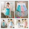 wholesale baby girls summer sleeveless dress kids tutu dress children polka dots dresses