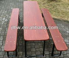 Strong beer table set with metal folding table leg