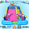 ocean themed large inflatable slide sea shipping n dolphin slide for kids