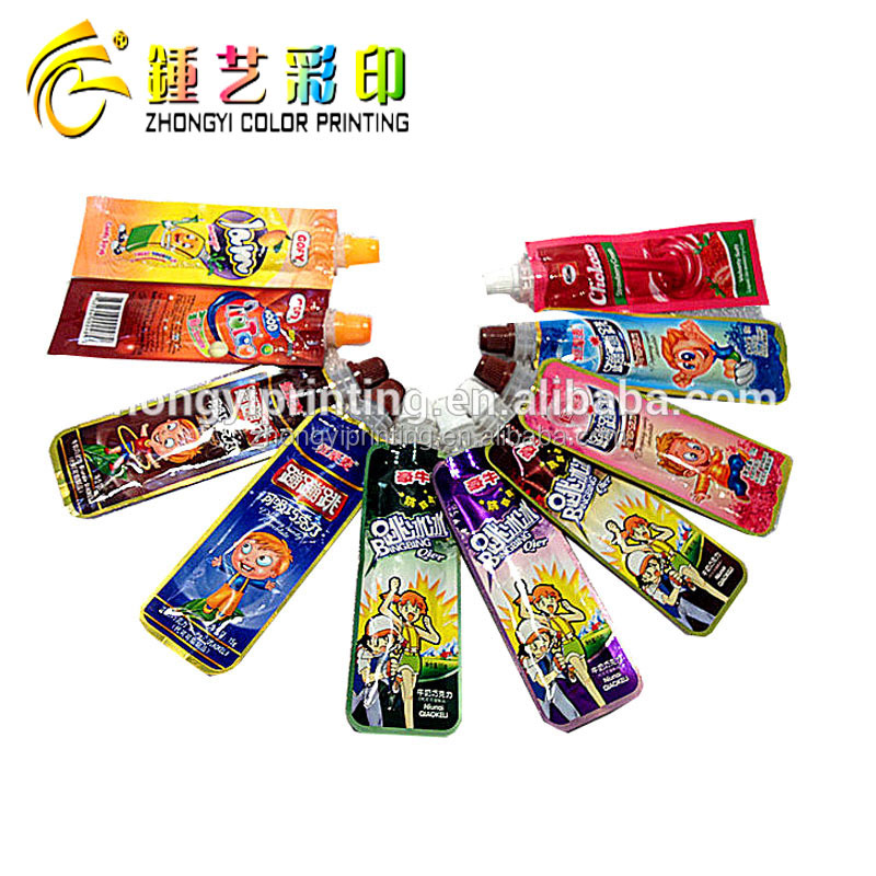 Mini Sucked Spout stand up pouch , Food packaging plastic bag,plastic packaging spouted bag