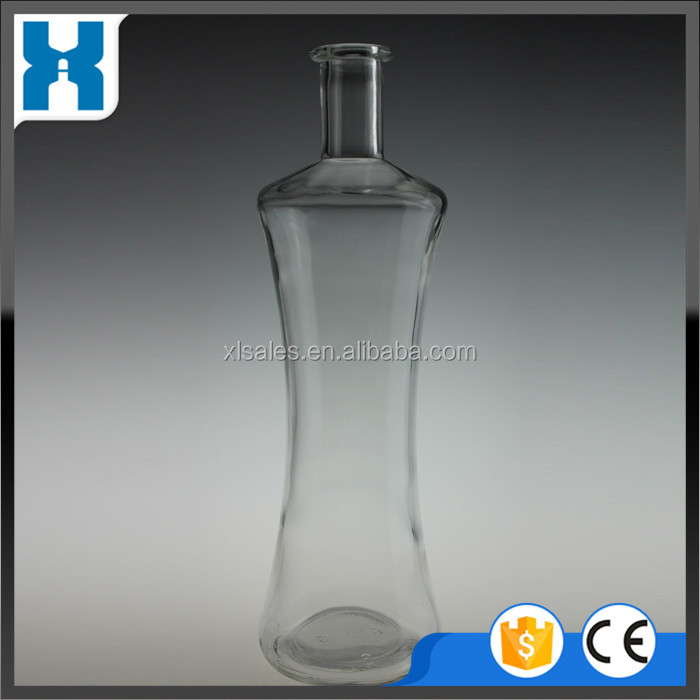 CHINESE MANUFACTURE 750ML GLASS LIQUOR BEVERAGE BOTTLE