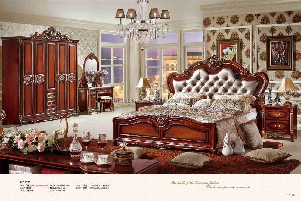 red color king size bedroom sets italy real leather king size bed bedroom set