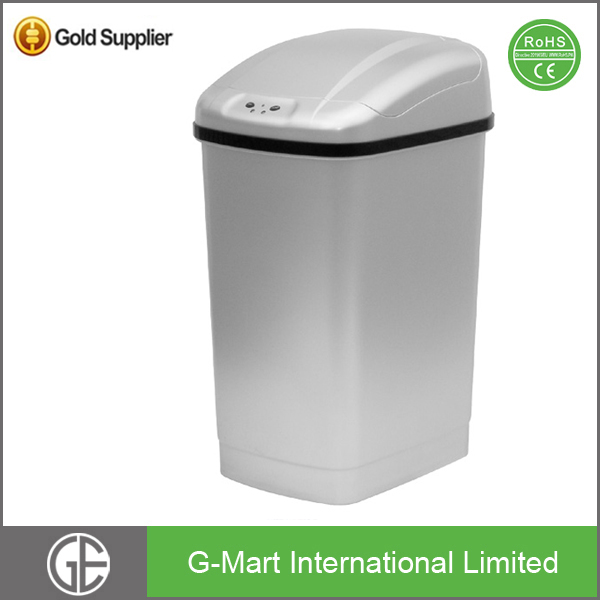 New Household Plastic Colored Smart Sensor Dustbin Garbage Can For Bathroom