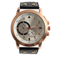 Business chronograph design watches, leather material wrist watches men luxury
