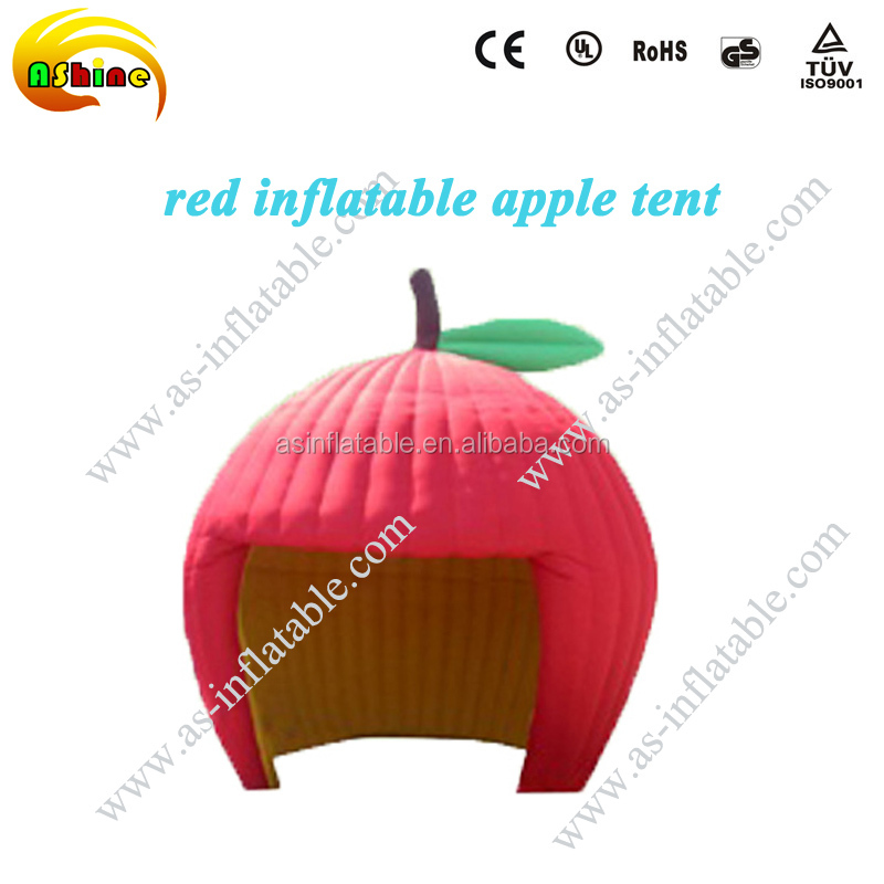 Red apple inflatable air igloo dome tent camping display canopy tent blow up tent