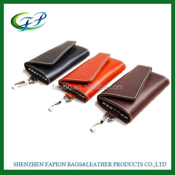 custom stylish promotional pu leather car key holder