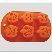 Pumpkin elf wizards shape silicone cake mould for Halloween gifts