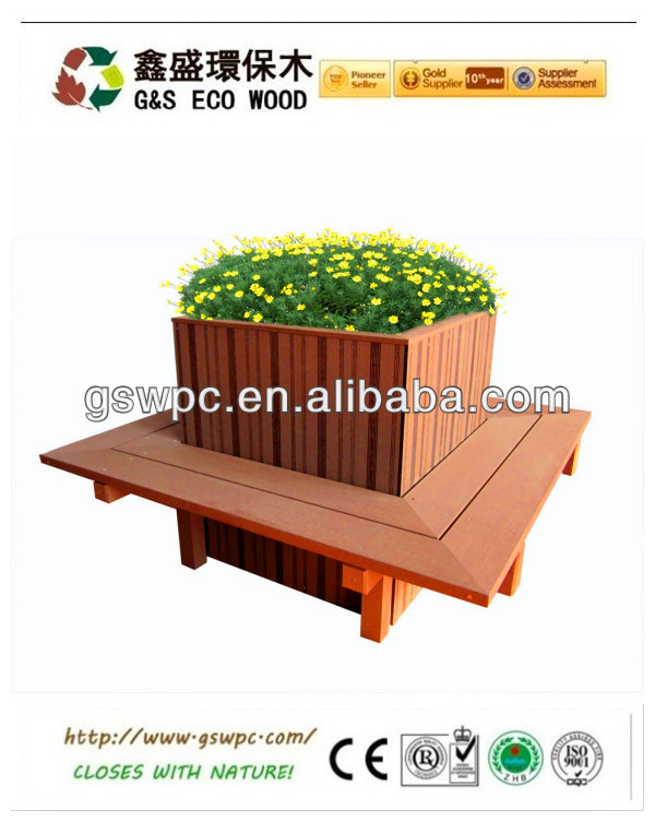 100% recyele and saving wood resource wpc flower pot with beautiful appearance