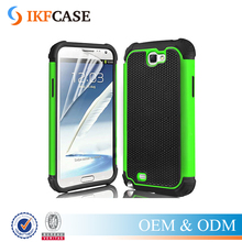 Cover For Samsung Note 2 Anti-Drop Hybrid Armor Phone Case For Samsung Galaxy Note II N7100 Shock Absorbing Silicone Case