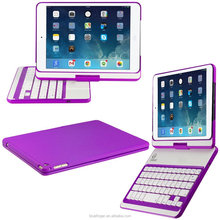 Rotatable Keyboard Case For iPad Air2, Ultra Slim Keyboard Cover Case with Bluetooth keyboard