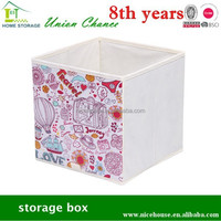 collapsible fabric storage boxes, storage cube with handle