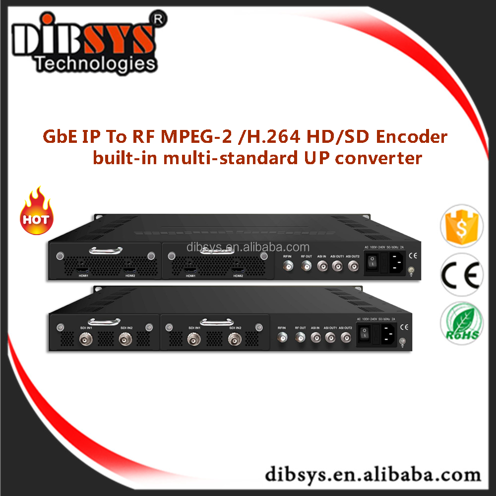 hd-sdi video transmitter including Coompact/1RU chassis mpeg2/h264 HD-SDI encoder modulator and uhf tv transmitter