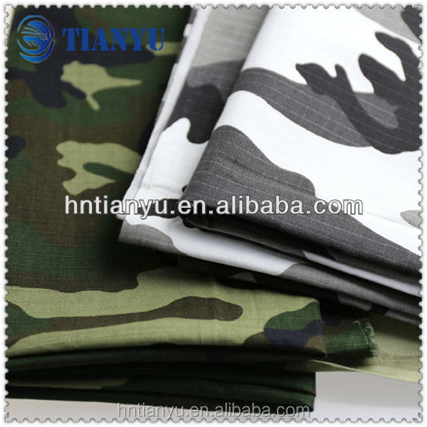 Camo Canvas Camouflage Waterproof Fabric for Garments