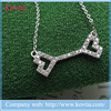 2015 AliExpress bone jewelry women dresses double heart necklace