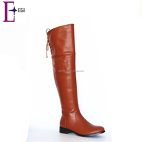 elegant women lace up thigh high boot ladies over knee boots