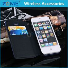 Wholesale Alibaba For Iphone 5 Litchi Pu Leather Wallet Flip Id Card Holder Slots Case Cover With Wrist Strap