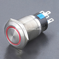 Anti-vandal IP40/IP67 momentary pushbutton switch with pilot light