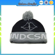 Custom Made Knitted Beanie Hats Ski Hat With 100 Acrylic Fabric And Jacquard Logo