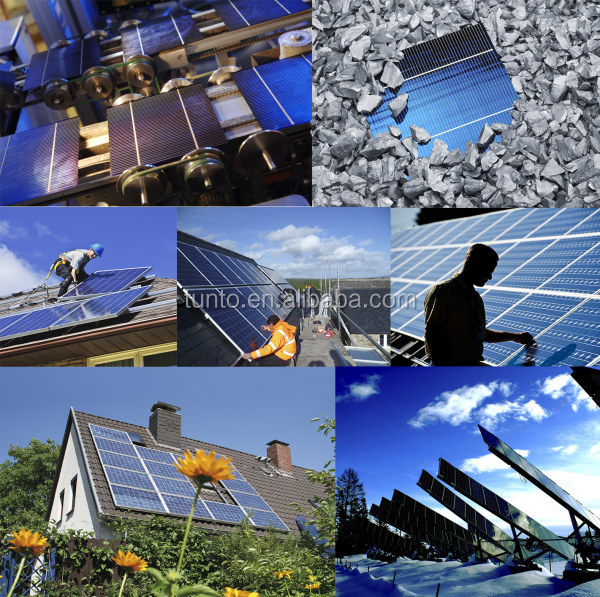 1KW Solar Fan and Lighting System Off Grid Hybrid Solar Wind Power System with PV Cable PV Brackets