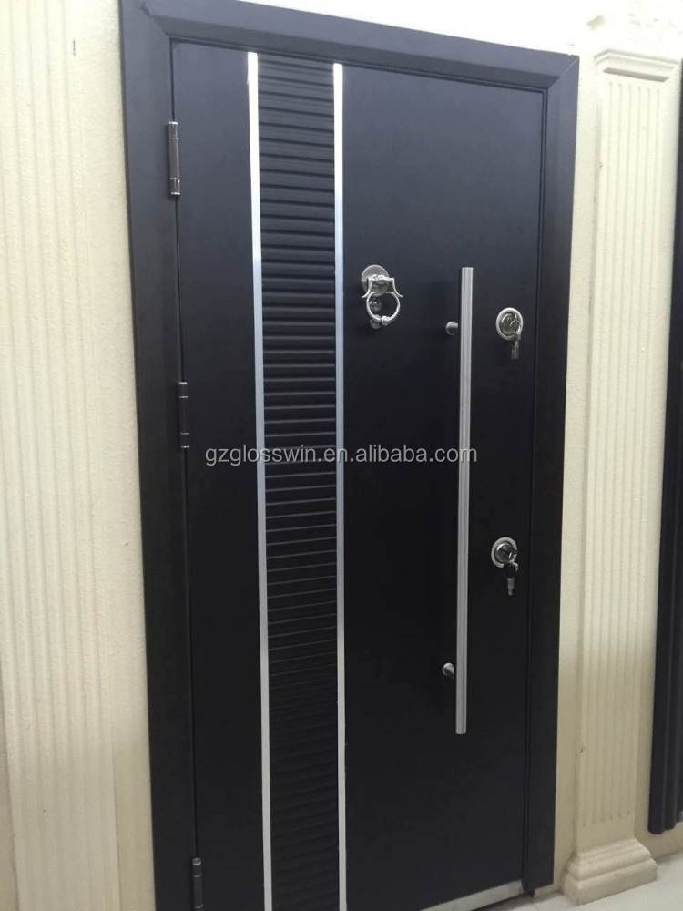 latest design steel door/steel wood armoured door