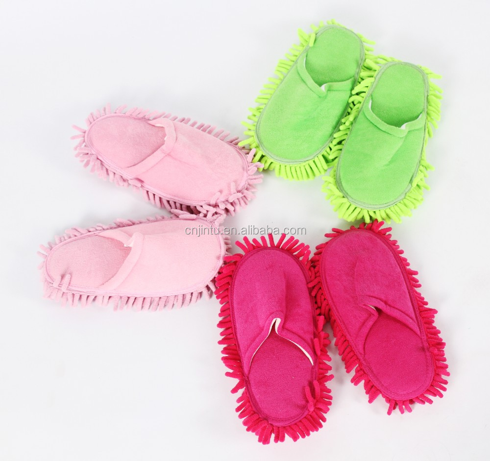 Factory sale microfiber cleaning functional usage chenille slipper ZM522
