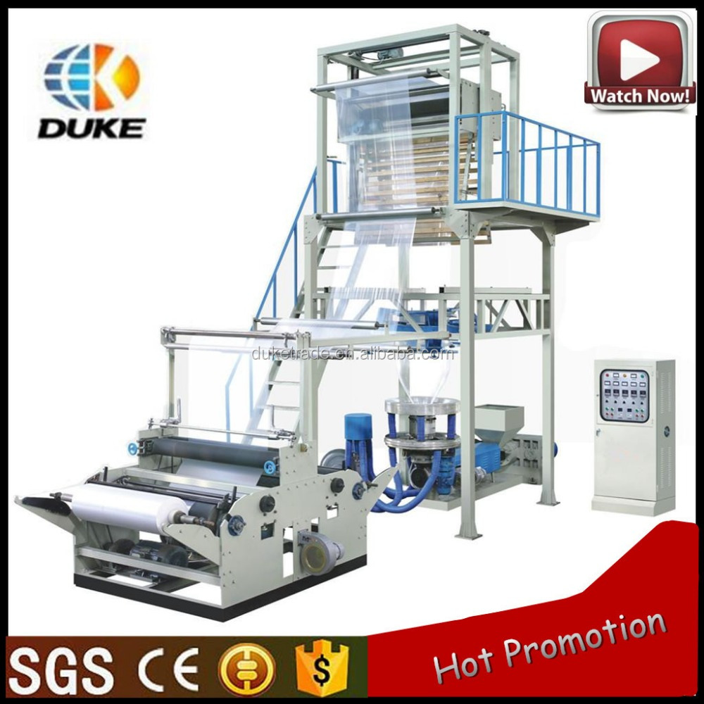 HDPE LDPE Film Rotary Die head double winder full automatic Extruder machine Plastic bag