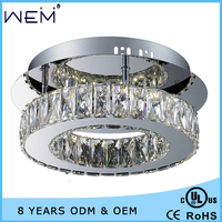 High Quality Home Decoration UL/CUL/CE standard 12W Modern LED Crystal Ceiling Lamp